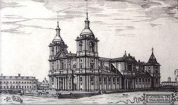 350px-Valladolid_(España),_Catedral._Proyecto_ideal_de_Juan_de_Herrera,_según_Chueca-Goitia.
