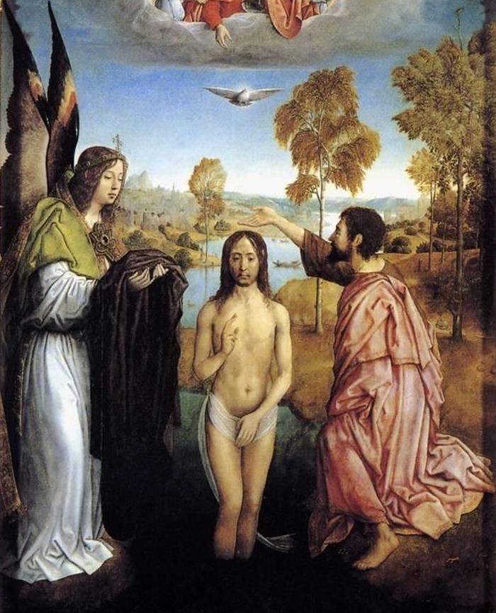 Flandes,_Juan_de_—_Baptism_of_Christ_—_1496-99_(detail)